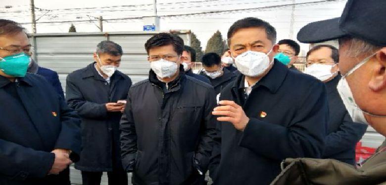 李公乐袁家健在殷都区龙安区检查指导疫情防控工作
